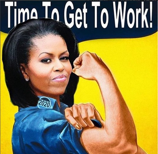 (#trump) #Michelle #Obama. time to get to work! #2020