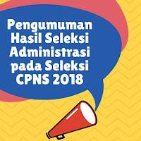 Hasil Seleksi Administrasi CPNS 2018 (Jawa Barat)