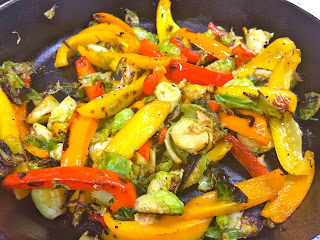 Sautéed Brussels Sprouts and Bell Pepper