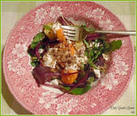 A warm salad of Butternut Squash, Quinoa & Goats' Cheese