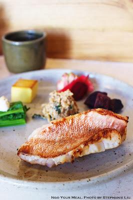 Kombu Cured Perch at Okonomi