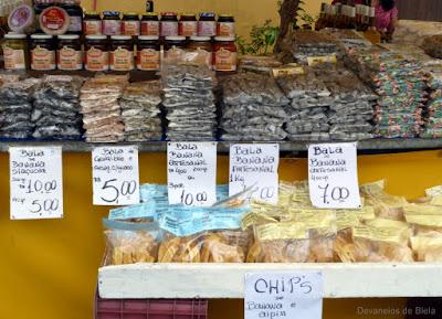 Passeio em Morretes - bala e chips de banana
