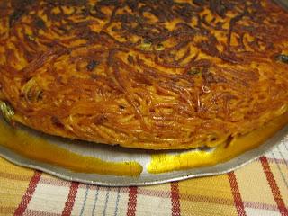 Leon d'Oro Restaurant, Piazza Dante, Naples, spaghetti frittata