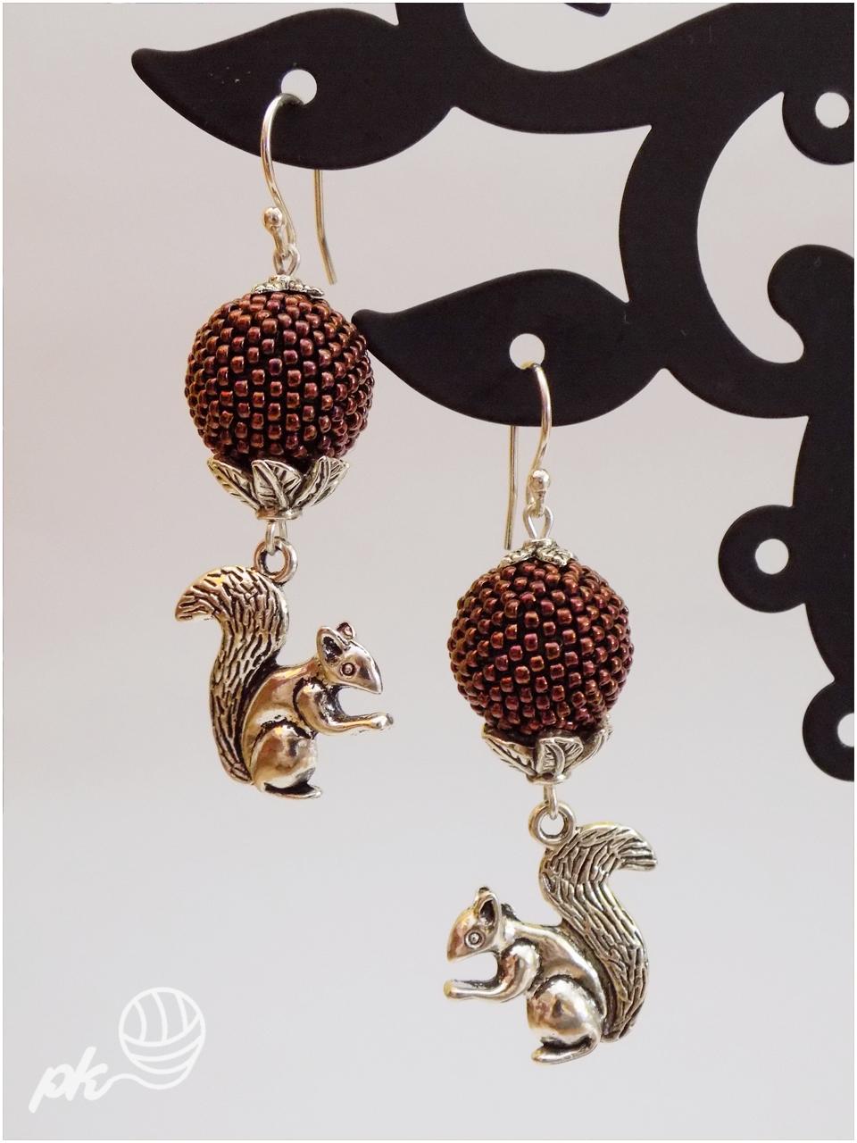 beaded ball, kolczyki, peyote, rękodzieło, handmade, biżuteria, jewellery, earrings