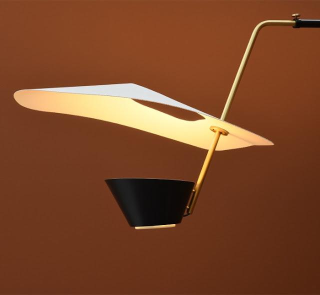 G25 wall lamp, Pierre Guariche design, detail, Sammode Studio reissue.