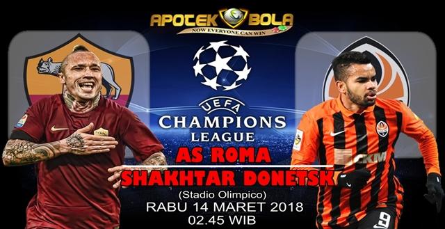 Prediksi AS Roma vs Shakhtar Donetsk 14 Maret 2018