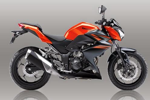 Motor Kawasaki Z250 Orange