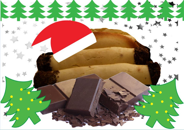 Pâtisserie de Noël, rouleaux au chocolat, recette Autriche