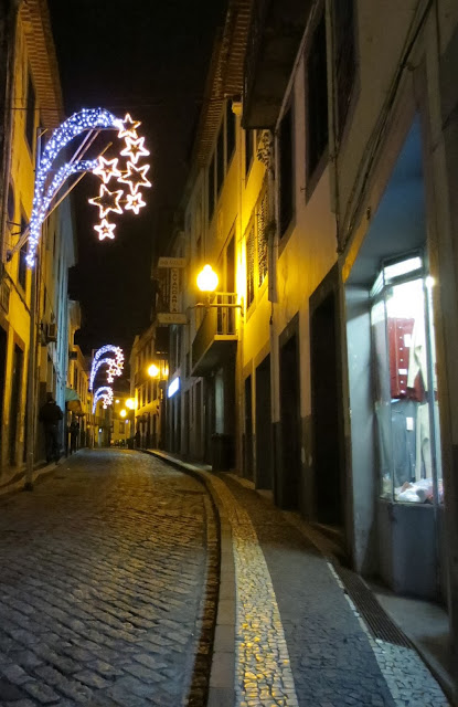 some christmas lights already opened in Funchal