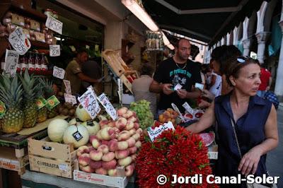 Verduras en el Mercado de Rialto de Venecia