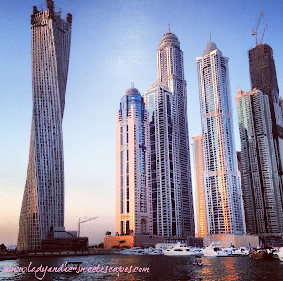 High rise buildings at Dubai Marina