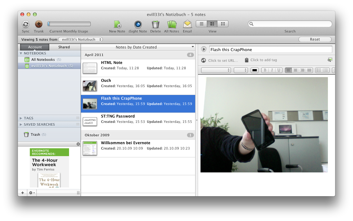 mac and i: Evernote - make a note  Or 500,000 of them