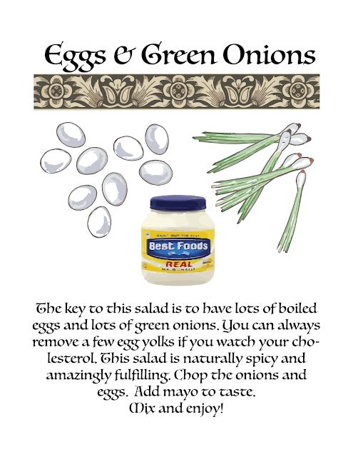 Egg Salad Recipe editorial illustration with description