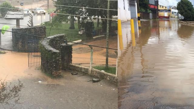 chuvas inundam pinhal