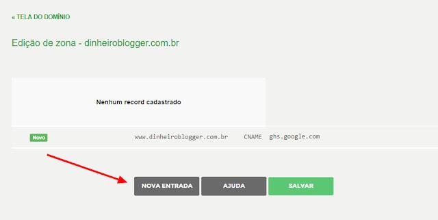 adicionar nova entrada registrobr blogger