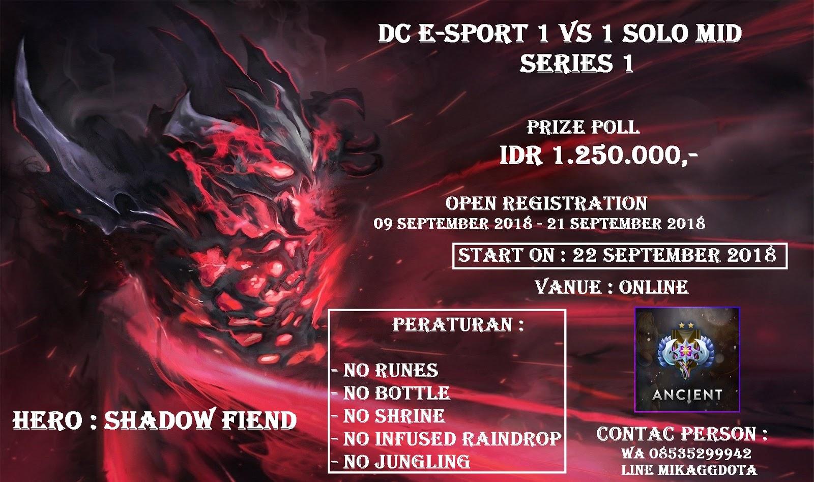 DC e-Sport 1 vs 1 Series 1 - Dota 2 Tournament Online
