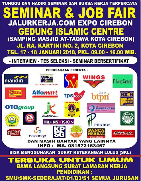 Bursa Kerja Cirebon 17-18 Januari 2018