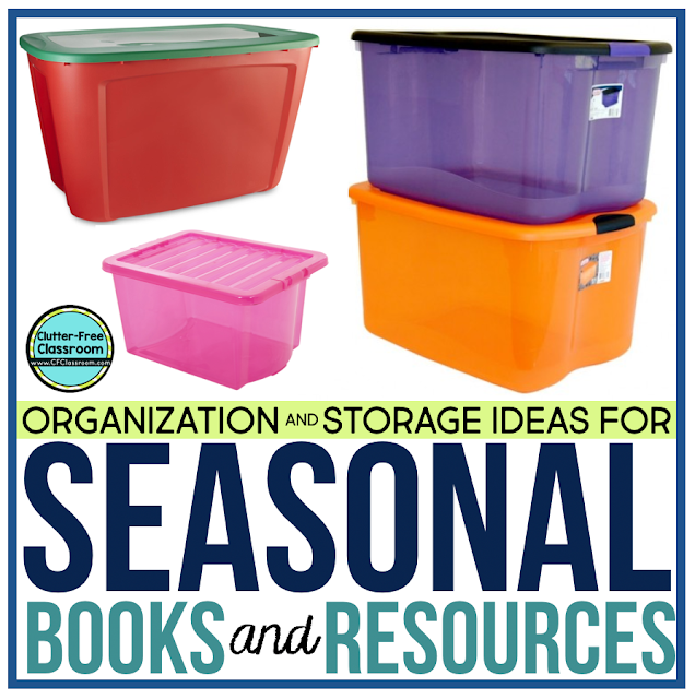 Are you looking for storage tips and solutions for your seasonal classroom resources? Check out these simple classroom organization ideas to determine where and how to store these items.