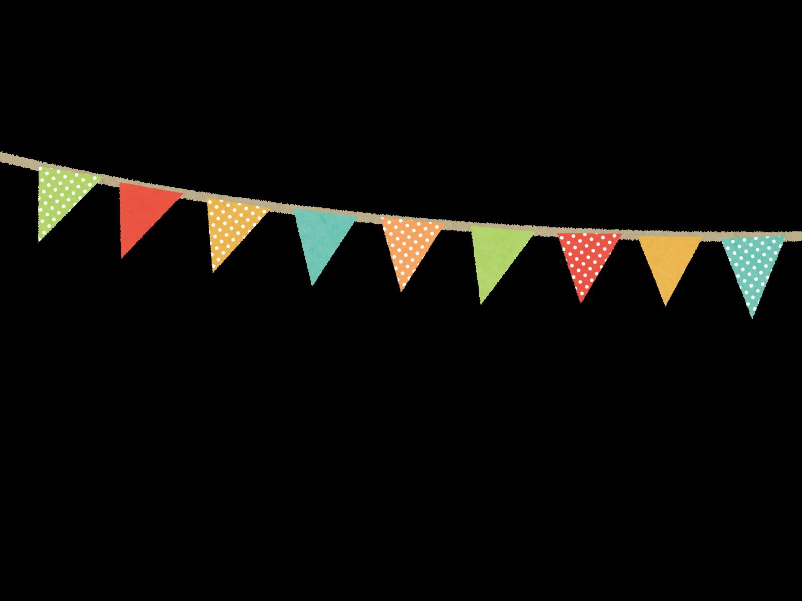 無料で使えるフリーならくがき素材 運動会の旗のイラスト