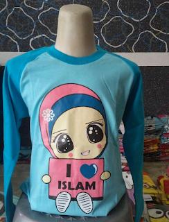 Kaos Raglan Anak Muslim I Love Islam