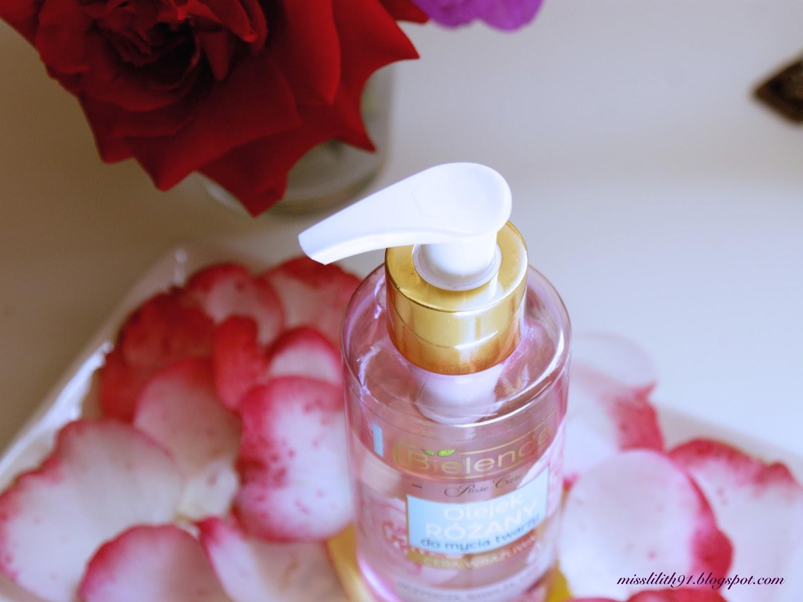 Różany olejek do mycia twarzy Bielenda