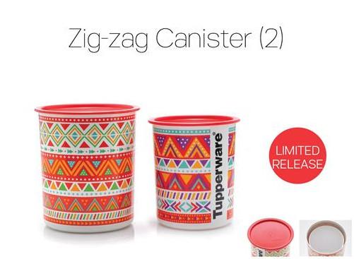 Tupperware Zig-zag Canister (2)