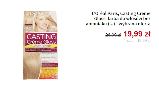 farba do włosów bez amoniaku Loreal Paris