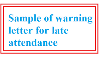 Sample of warning letter for late attendance letter formats and sample of warning letter for late attendance model letter format spiritdancerdesigns Choice Image