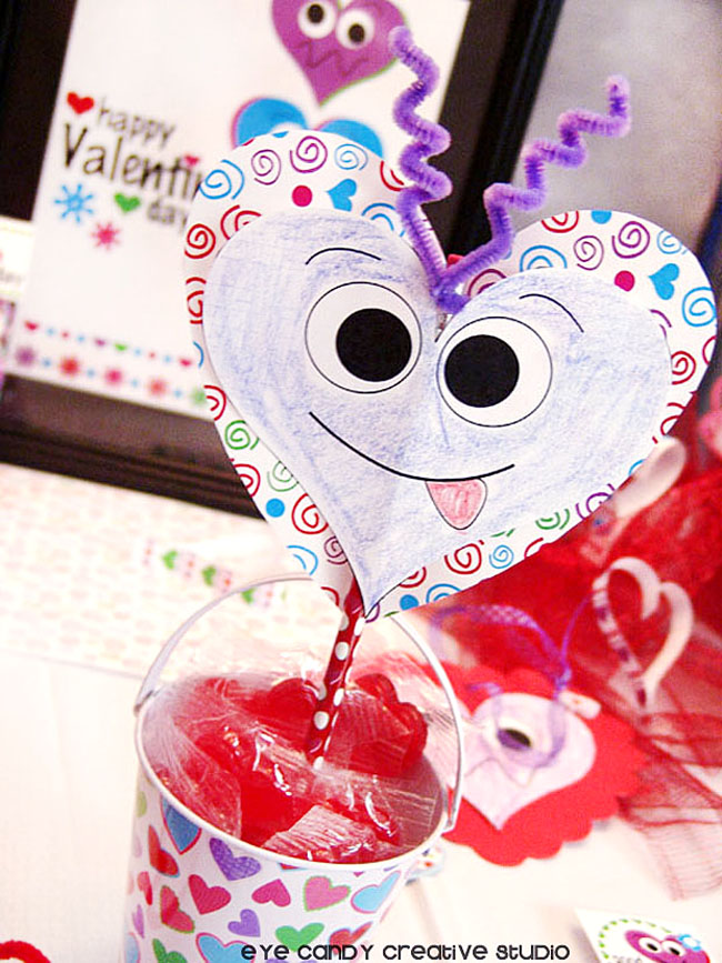 valentine day craft, kids valentine craft, pencil craft, valentines day
