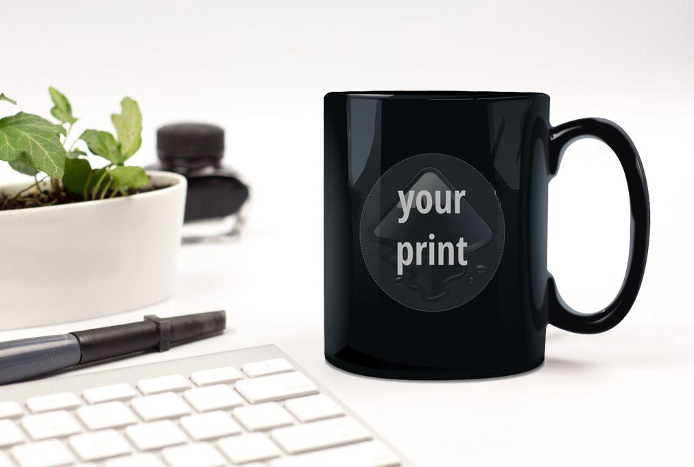 Black Coffee Mug Free Mockup