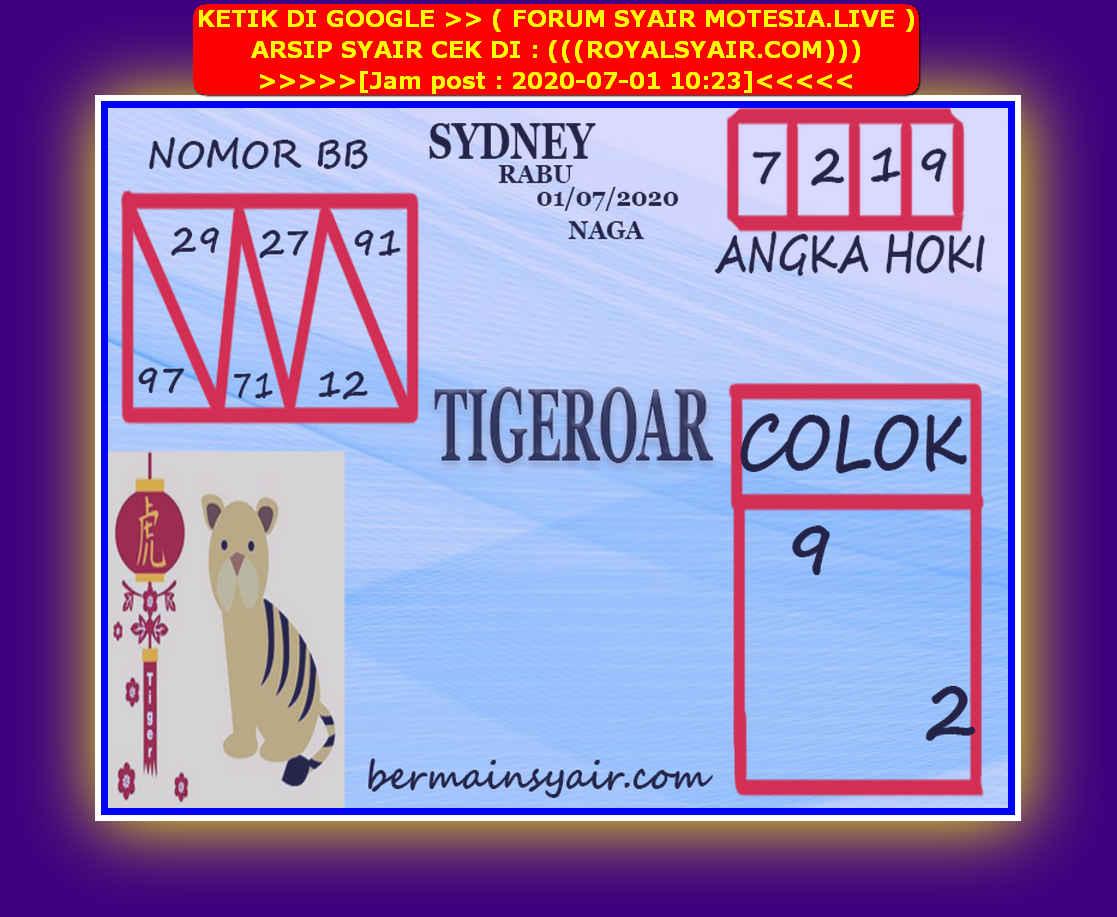 Kode syair Sydney Rabu 1 Juli 2020 78