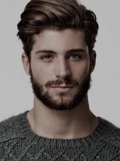 Foto Gambar Gaya Model Rambut Pria Wajah Hati