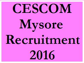 CESCOM Mysore Recruitment 2016