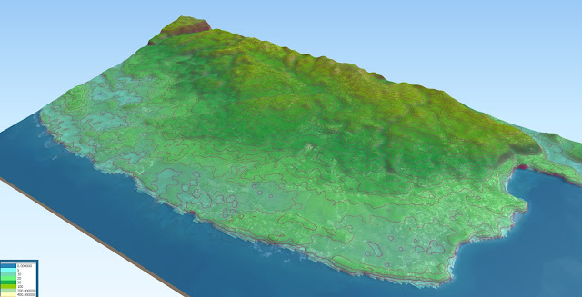 sosua 3d digital elevation model