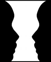 Desenho vaso/rosto