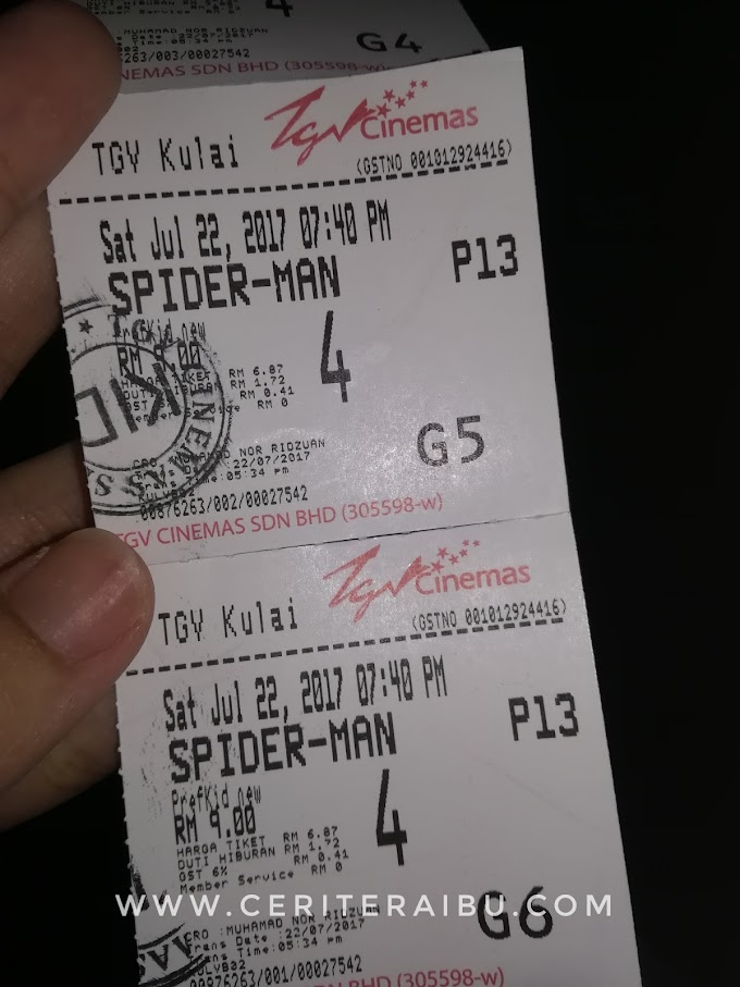 Layan Anak-anak Tengok Movie Spiderman Homecoming