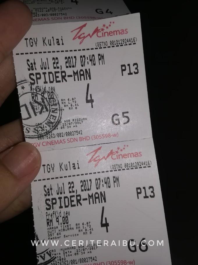 Layan Anak-anak Tengok Movie Spiderman Homecoming