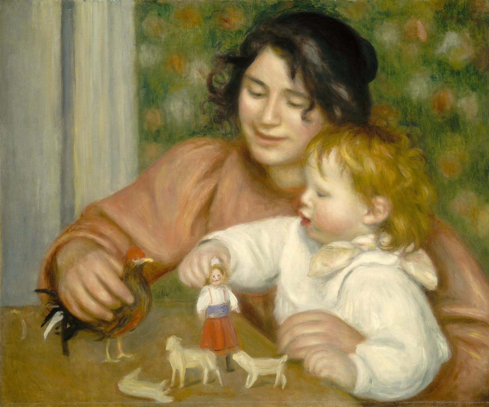 Nesta pintura,  A criança e os brinquedos  (1895-6), Renoir retrata Jean e  a babá Gabrielle, muito querida da família. a8603cf98c