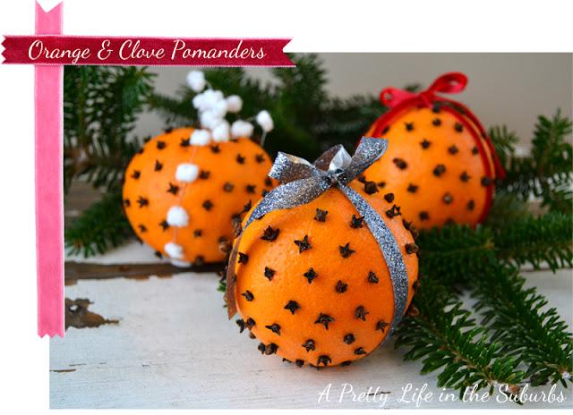 Orange & Clove Pomanders {A Pretty Life}
