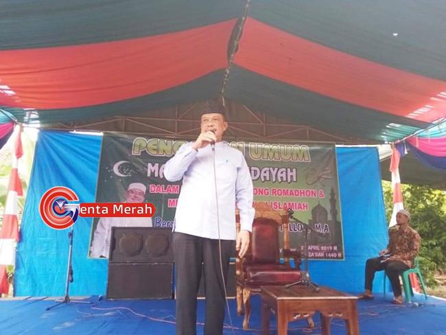 Gelar Pengajian Songsong Ramadhan, Sekdakab Lampura Ajak Warga Rawat Pembangunan
