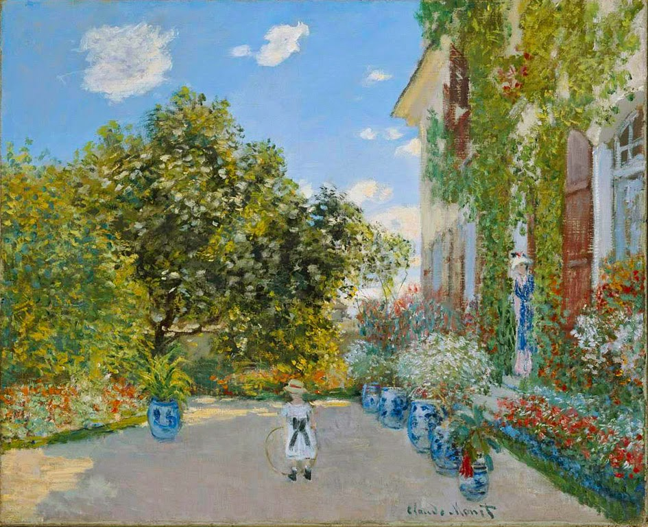 Claude Monet, La casa del artista en Argenteuil (1873), Art Institute, Chicago