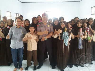 Polsek Binong, Kab. Subang sosialisasikan gerakan anti Narkoba   di Mts Cicadas, Kec. Binong. Sabtu 25/03/2017