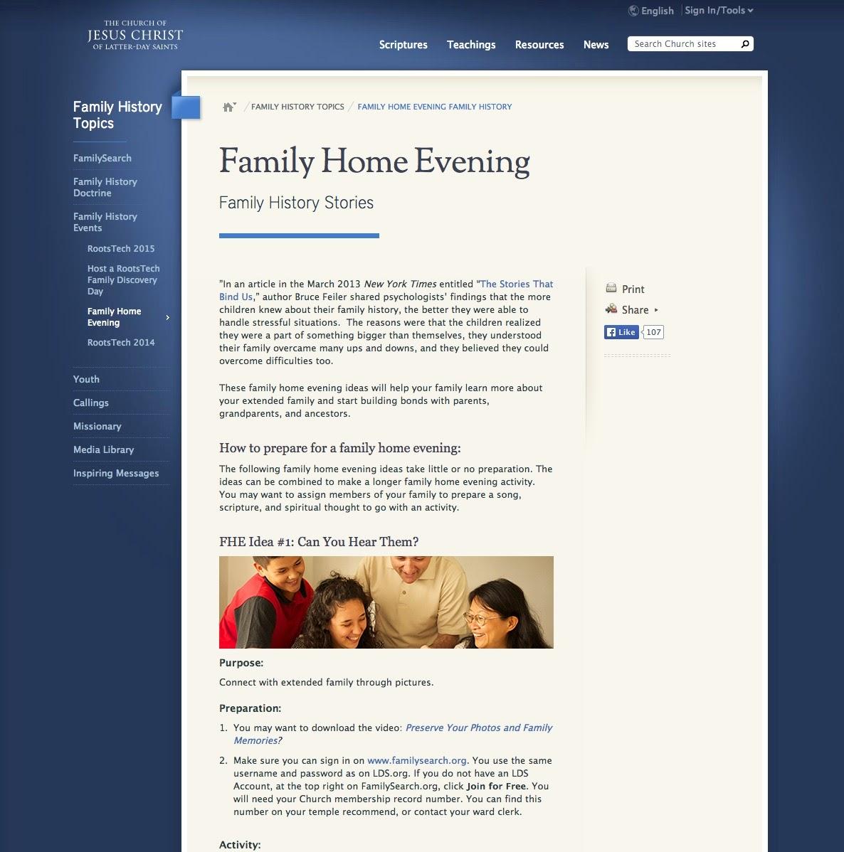 Rejoice, and be exceeding glad...: Six Family History Ideas for ...