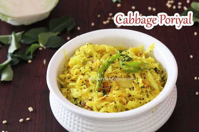 Cabbage poriyal or Mottaicose poriyal recipe | How to make Tamil Nadu style cabbage stir fry