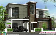 Flat Roof Contemporary 2200 Sq-ft - Kerala Home Design And