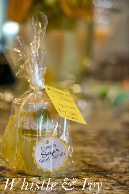 Citrus Themed Baby Shower Oranges Lemons Limes Grapefruit Lemon Sugar Handscrub