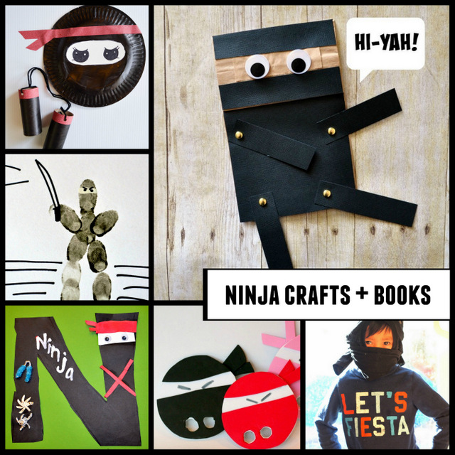 Great list of of ninja crafts and book ideas just perfect for preschoolers!