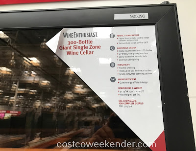Costco 925096 - Wine Enthusiast 300-Bottle Giant Single Zone Wine Cellar: great for any wine lover