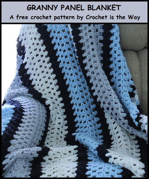 afghan, blanket, challenge, crochet, easy, free pattern, giveaway, granny square, granny stitch, Granny-Spiration Challenge 2017, link party, linkup, panel, quick, stripe