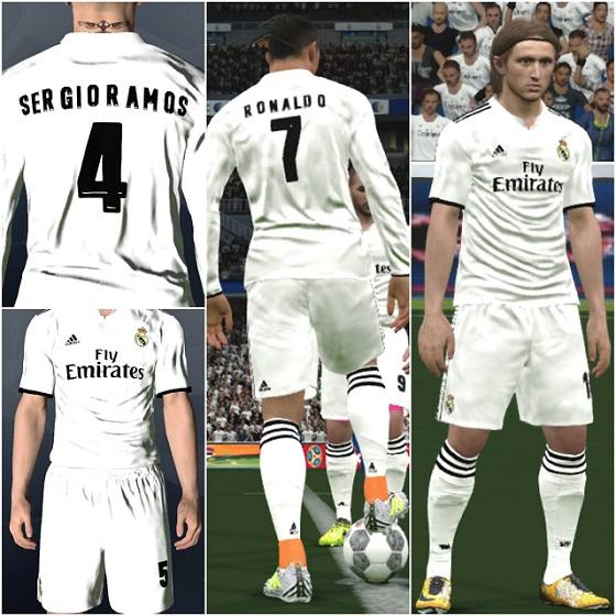 PES 2017 Real Madrid Full Kits 2018-19